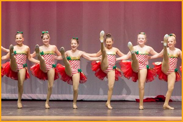 Kick Dance Studios dancers show off their leg form