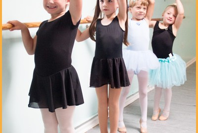 Young Ballerinas at Dance Class