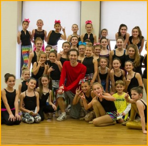 Jesse Swim visits Kick Dance Studios